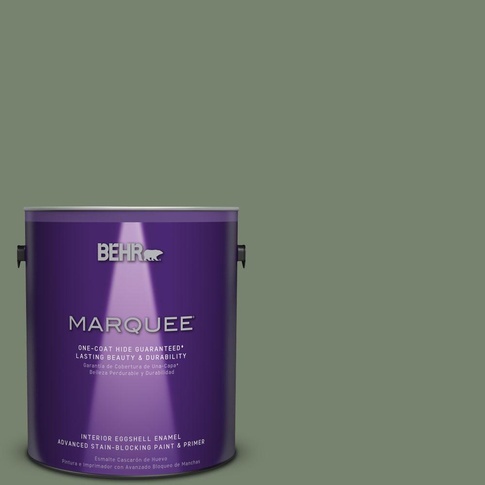 1 gal. #MQ6-16 Gazebo Green One-Coat Hide Eggshell Enamel Interior Paint