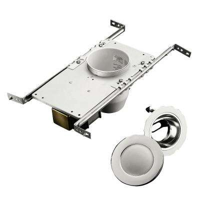 10 in. Polished Chrome Recessed Shower Light