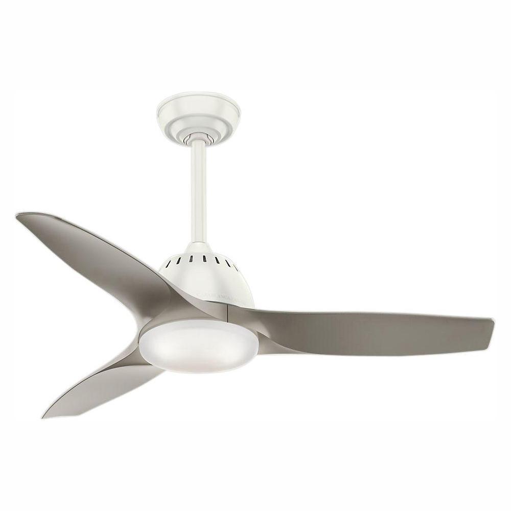 Casablanca Wisp 44 in. LED Indoor Fresh White Ceiling Fan