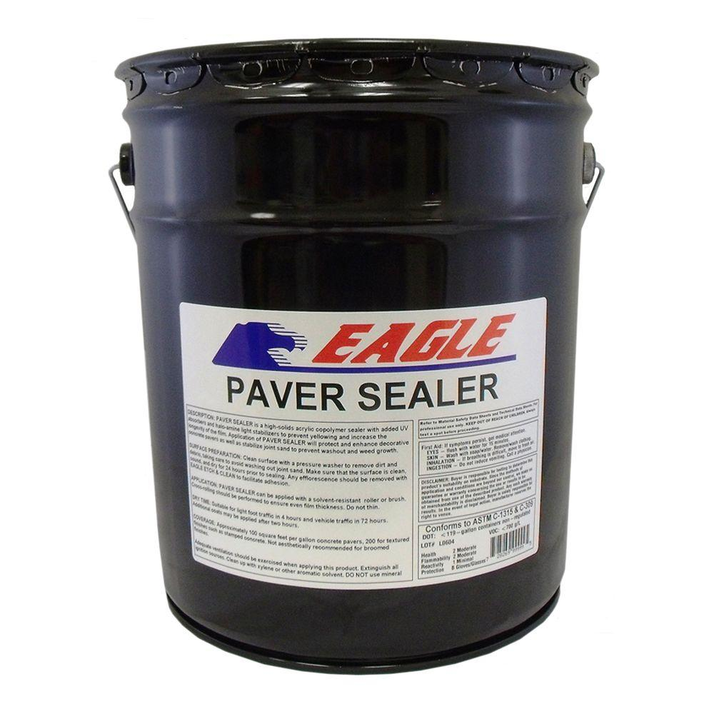 Eagle 5 Gal. Clear Wet Look Solvent Based Acrylic Concrete Paver Sealer