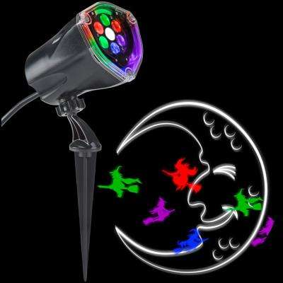 LED Projection Plus-Whirl-a-Motion and Static-Witch with Moon