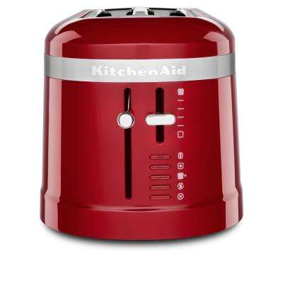 4-Slice Red Long Slot Toaster with High-Lift Lever