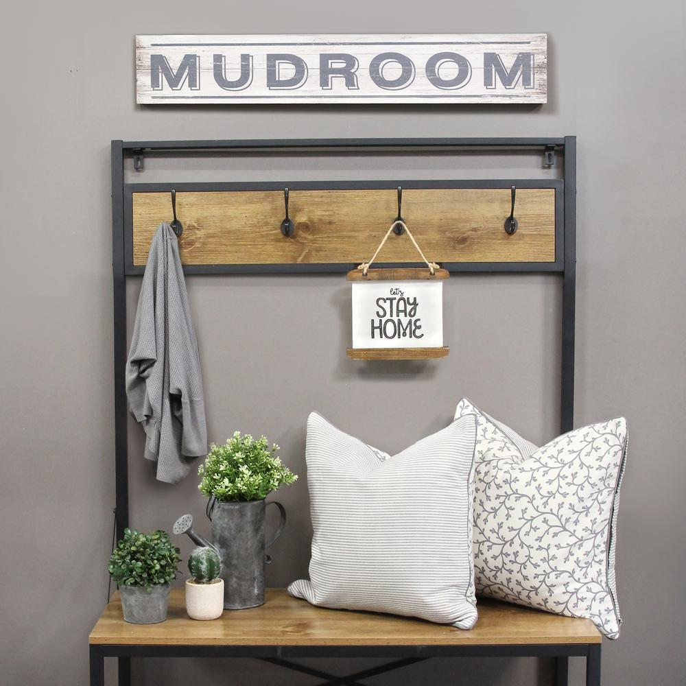 Stratton Home Decor Metal Mudroom Wall Art S15049 The
