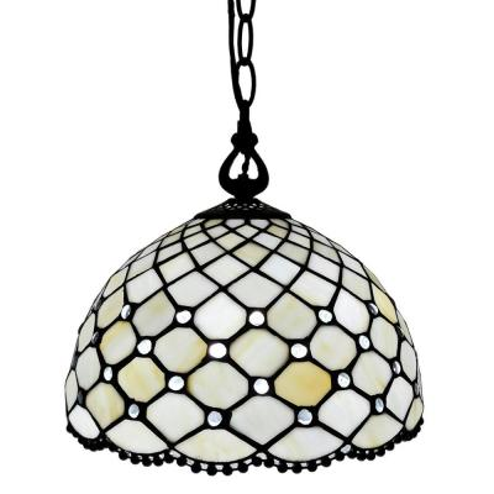 1-Light Tiffany Style Hanging Pendant