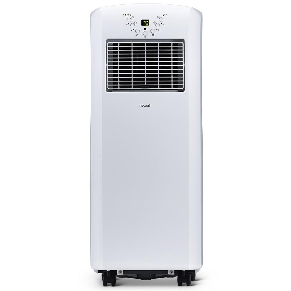 Newair 10 000 Btu 6 000 Btu Doe Portable Air Conditioner Cover 325 Sq Ft With Easy Setup Window Venting Kit White Ac 10100e The Home Depot