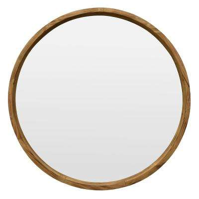 35.25 in. Wood Mirror