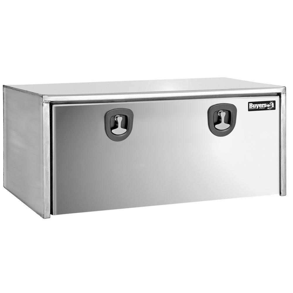 Stainless Steel Underbody Truck Box with Polished Stainless Steel Door, 18