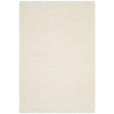 Charlotte Shag White 8 ft. x 10 ft. Area Rug