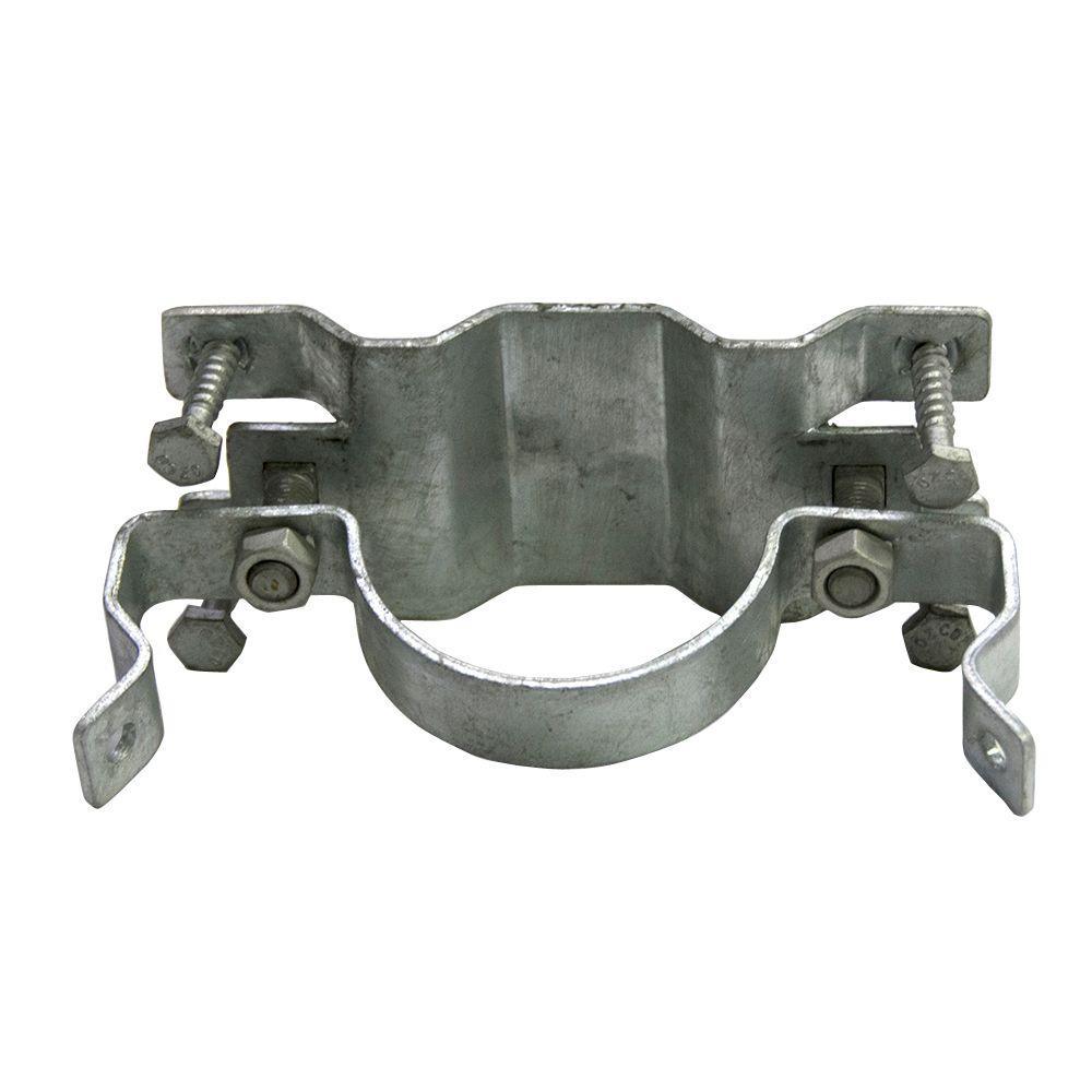 Oz-Post JAWSII 2-3/8 in. Galvanized Steel Fence Bracket Full Wrap ...