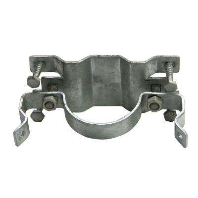 JAWSII 2-3/8 in. Galvanized Steel Fence Bracket Full Wrap (3-Pack)