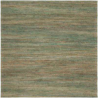Cape Cod Sage/Natural 6 ft. x 6 ft. Square Area Rug
