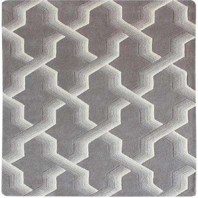 Ottavio Grey and Ivory 6 in. x 6 in. Square Indoor Area Rug