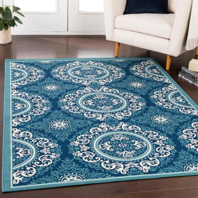 Nouvel Slate 7 ft. x 10 ft. Indoor/Outdoor Area Rug