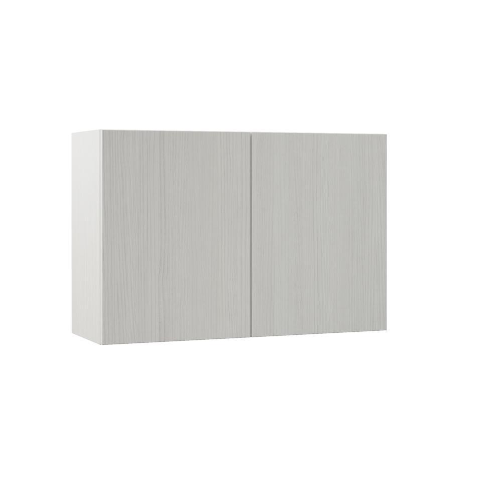 Edgeley Embled 36x24x12 In Wall Bridge Kitchen Cabinet Glacier