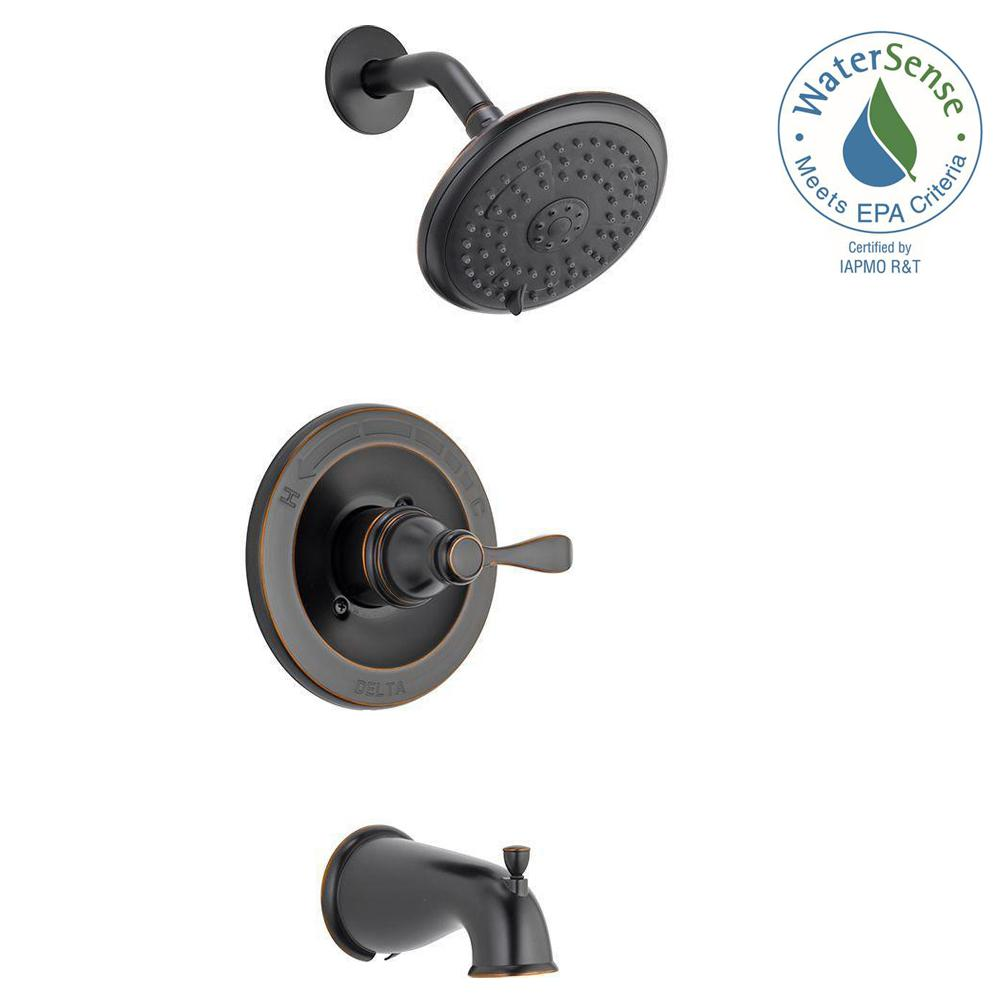 Delta Porter Single-Handle 3-Spray Tub and Shower Faucet in Oil Rubbed Bronze