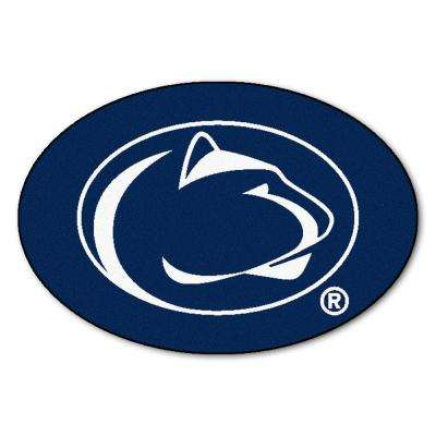 NCAA Penn State Navy Blue 3 ft. x 4 ft. Specialty Accent Rug