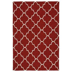 Escape Red 9 ft. x 12 ft. Indoor/Outdoor Area Rug