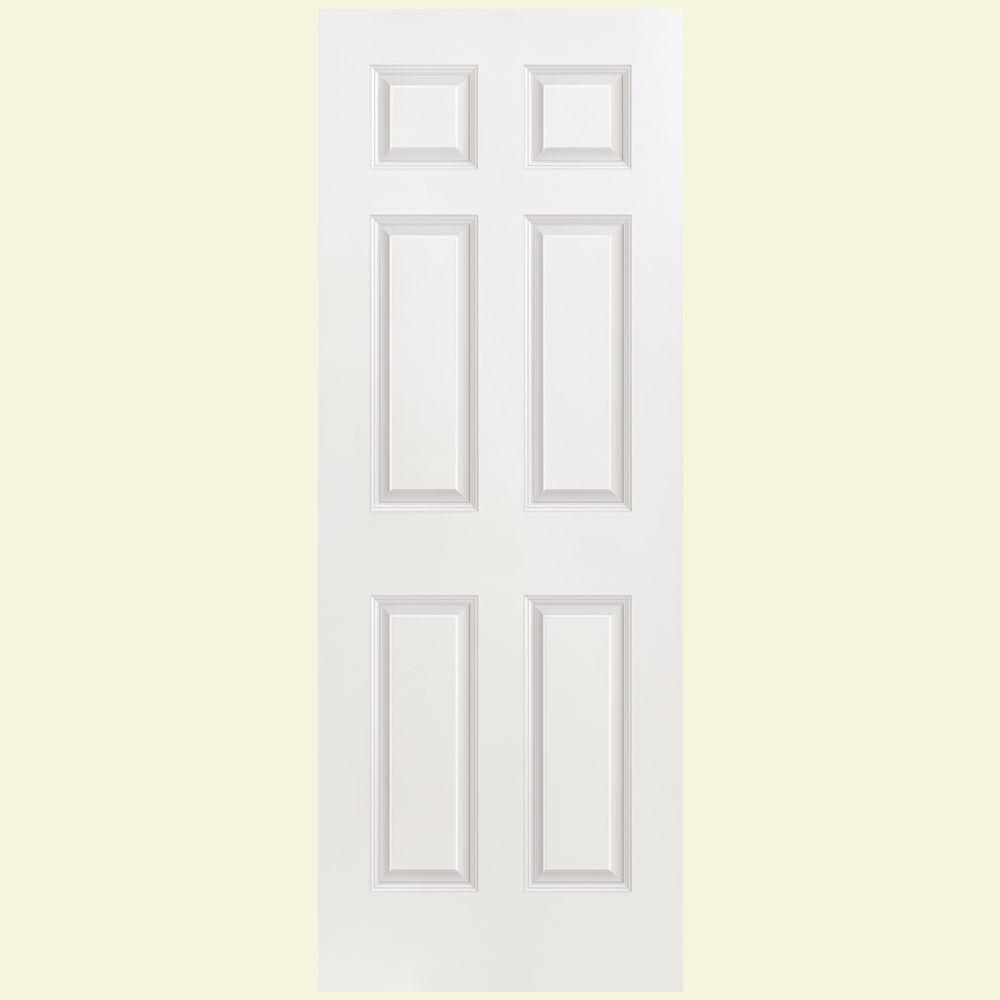 Masonite Smooth 6-Panel Hollow Core Primed Composite Interior Door Slab-DISCONTINUED