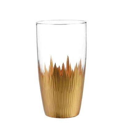Lava Gold 15 oz. Highball Glass (4-Piece Set)
