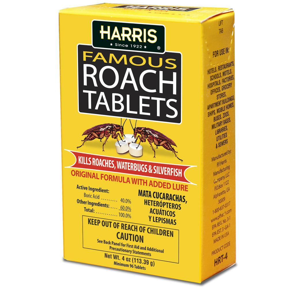 Harris 4 Oz Famous Roach Tablets Hrt 42 The Home Depot