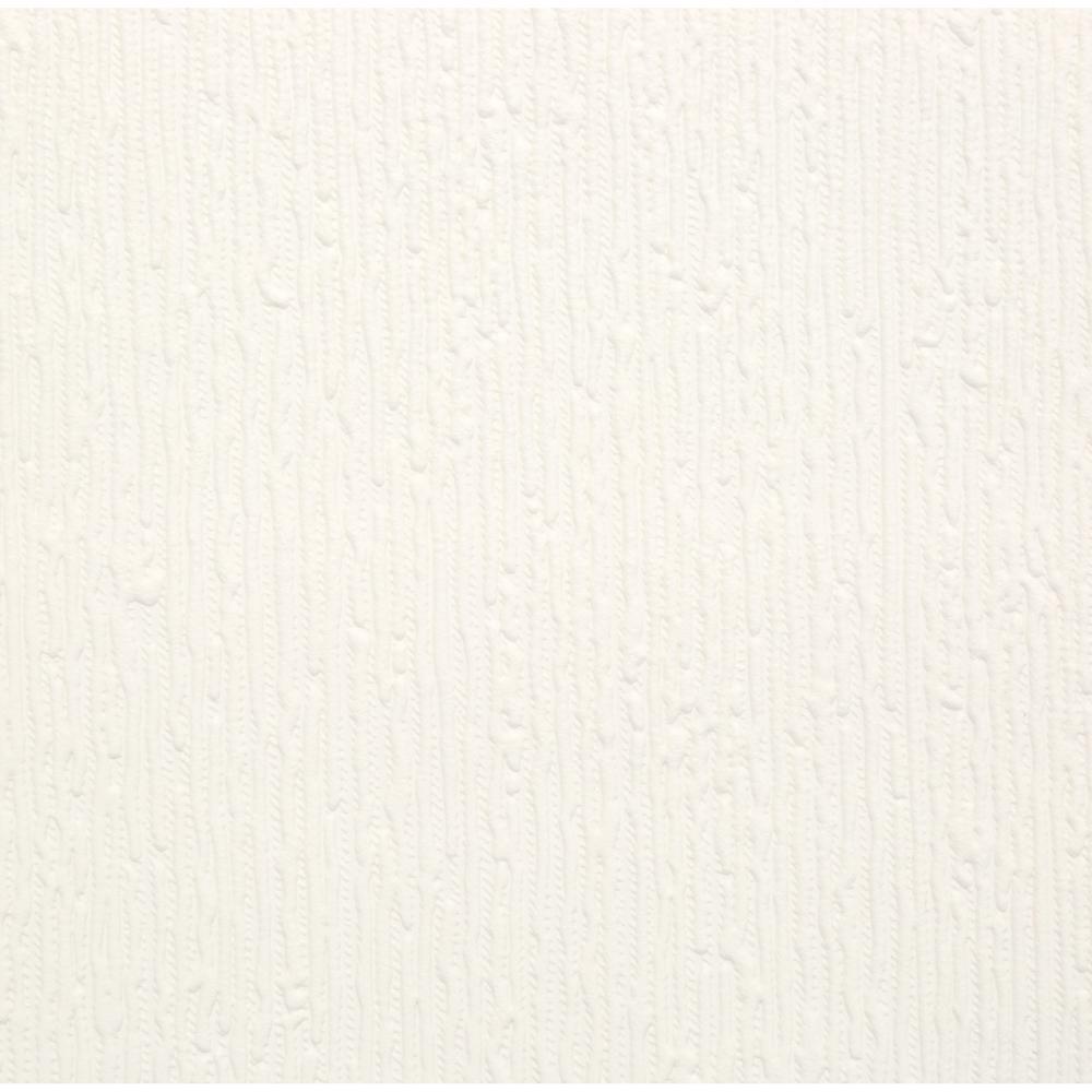 Graham & Brown Stria Paintable White Wallpaper 13947