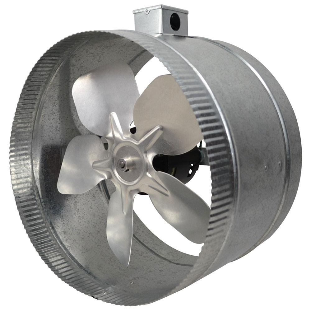 Inline Fan Installation : Inductor in pole line duct fan with electrical
