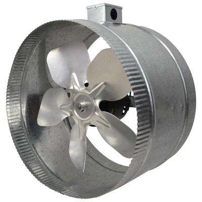 12 in. 4-Pole In-Line Duct Fan with Electrical Box