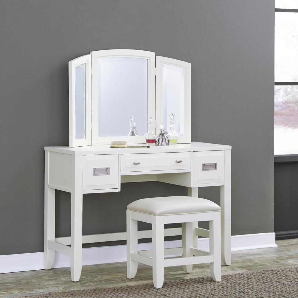 Newport 2-Piece White Vanity Set