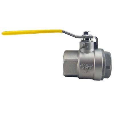 1-1/2 in. Stainless Steel FNPT x FNPT Full-Port Ball Valve