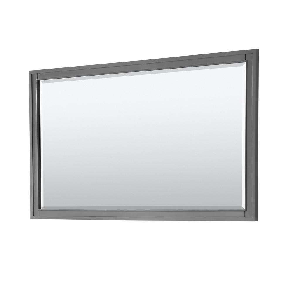Wyndham Collection Margate 58 in. W x 33 in. H Framed Wall Mirror in Dark Gray