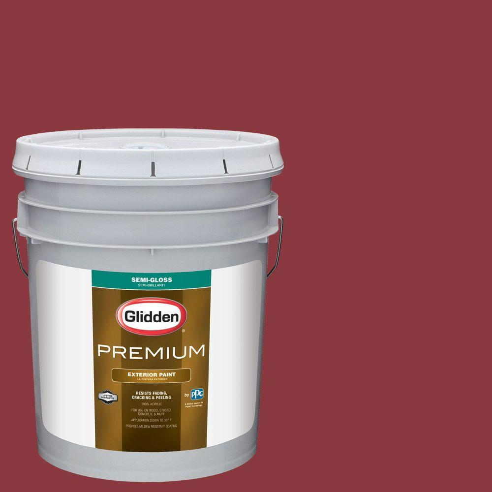 Hdgr51 Red Delicious Semi Gloss Latex Exterior Paint