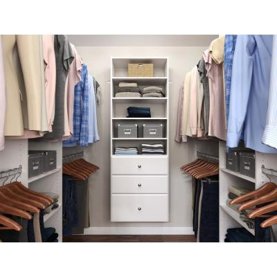Premier 25 in. W White Wood Closet Tower