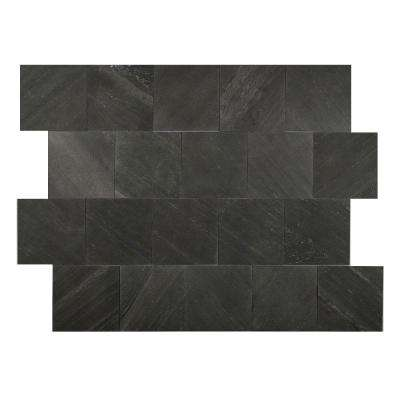 Black Line 6 in. x 6 in. Slate Peel and Stick Wall Tile (5 sq. ft. / pack)