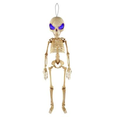 3 ft. LED Hanging Alien Skeleton