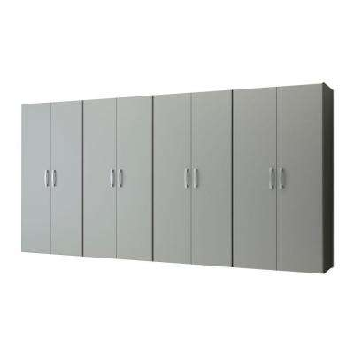 Jumbo Modular Wall Mounted Garage Cabinet Storage Set in Silver (4-Piece)