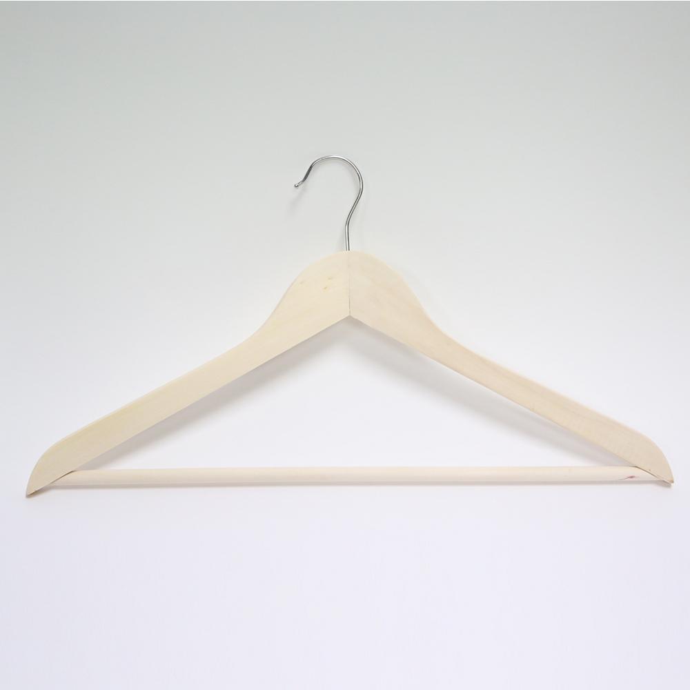 Natural Wood Hangers (20-Pack)
