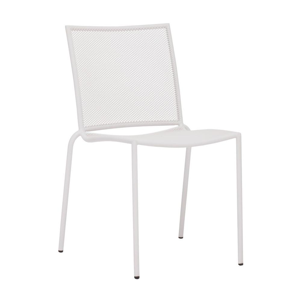 ZUO Repulse Bay Patio Chair White (Set of 4)