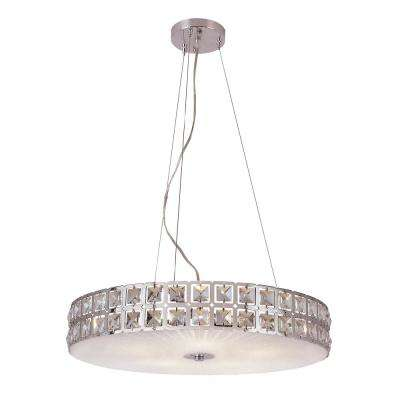 Kinetic 5-Light Polished Chrome Pendant