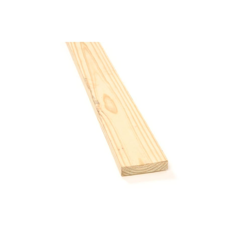 1 in. x 4 in. x 12 ft. Rough Pressure-Treated Board-556108 - The ...