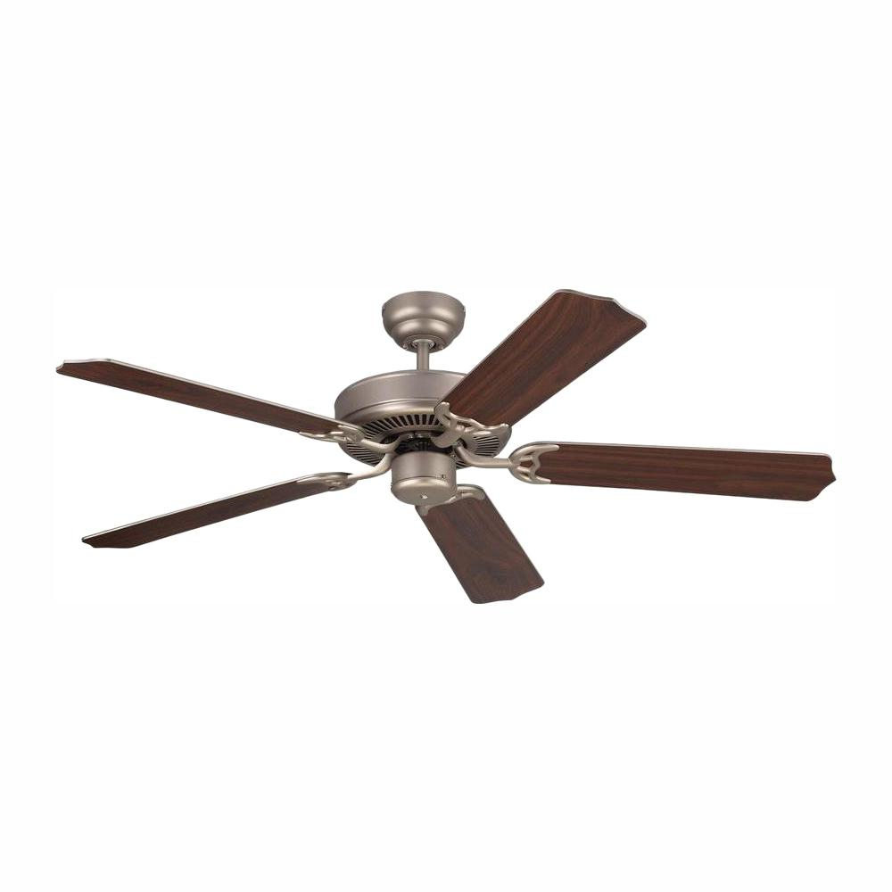 Monte Carlo Homeowner Max 52 in. Brushed Pewter Silver Ceiling Fan