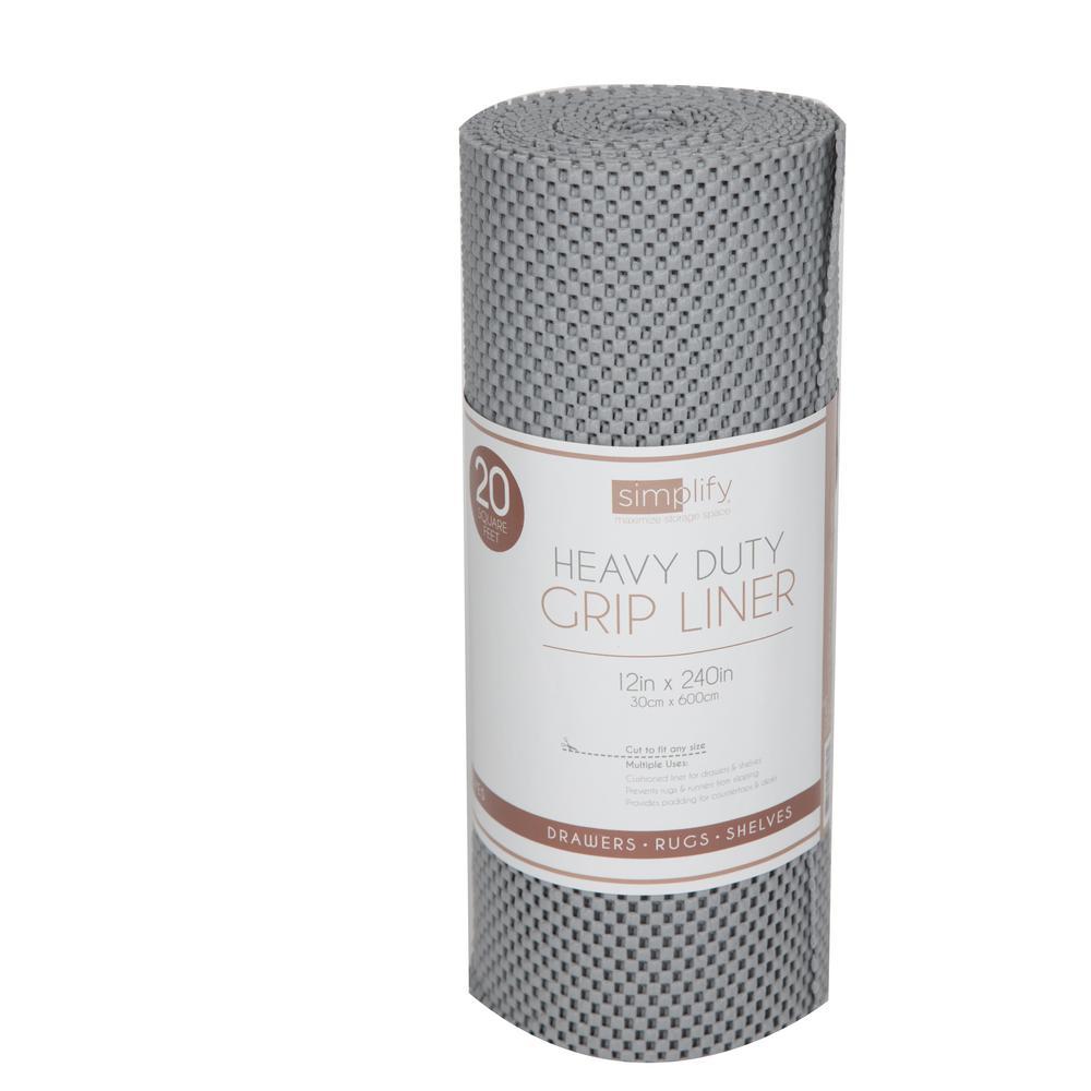 20 ft. Grey Roll Heavy Duty Grip Shelf Liner