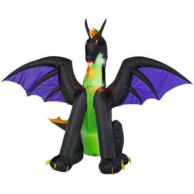 6 ft. Inflatable Lighted Dragon with Flaming Mouth