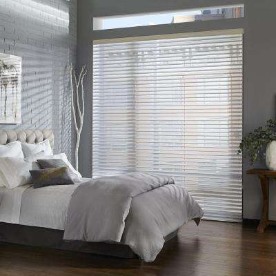 Corded Light Filtering Faux Wood Blinds Blinds The Home Depot