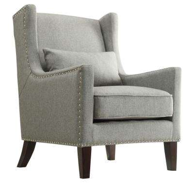 Ashley Slate Linen Wing Back Arm Chair