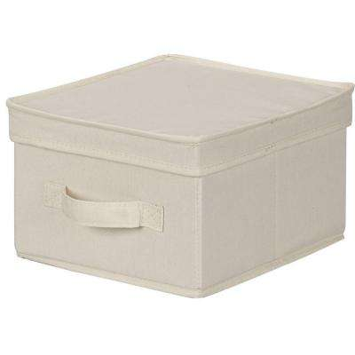 10 in. x 11 in. Natural Canvas Medium Storage Box