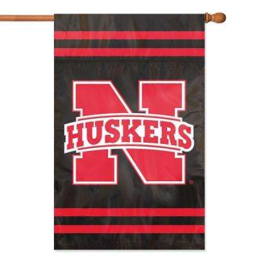 Nebraska Cornhuskers Applique Banner Flag