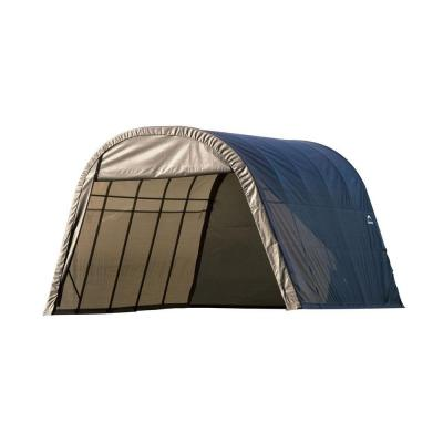 ShelterCoat 13 ft. x 20 ft. Wind and Snow Rated Garage Round Gray STD
