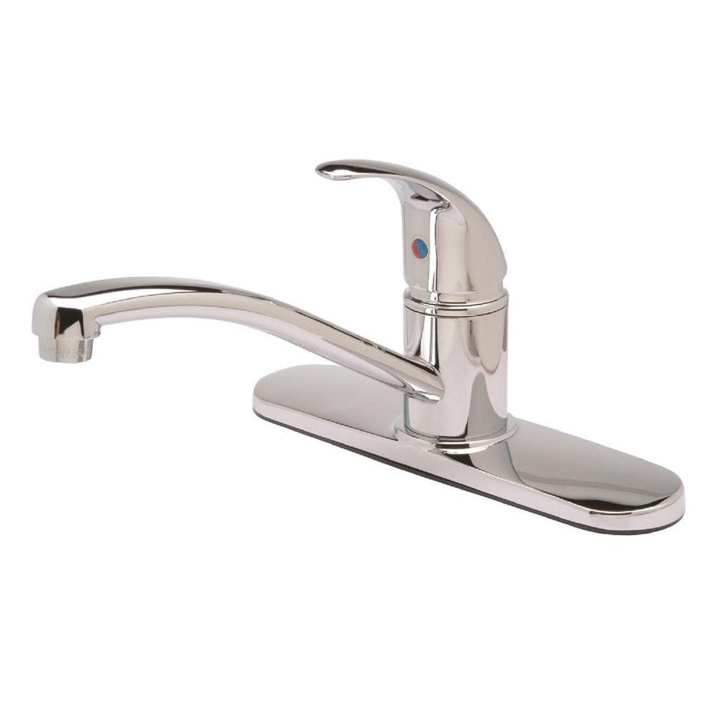 Single-Handle Standard Kitchen Faucet in Chrome