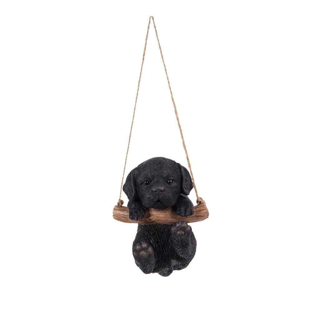 Black Lab Puppy Hanging Statue
