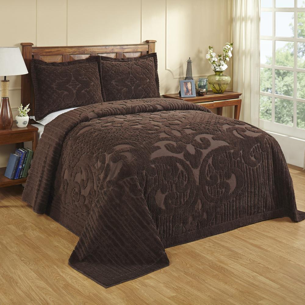 Ashton 1-Piece Chocolate Queen Bedspread